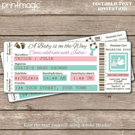 42 best Airplane ticket invitation images on Pinterest | Ticket ...