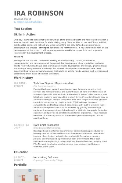 Technical Support Representative Resume samples - VisualCV resume ...
