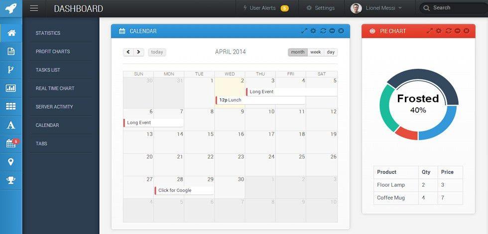 Saturn - Premium Responsive Retina Bootstrap Admin Dashboard Template