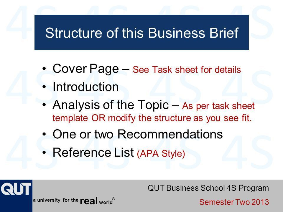 Writing a Business Brief BSB115 – Management - ppt video online ...