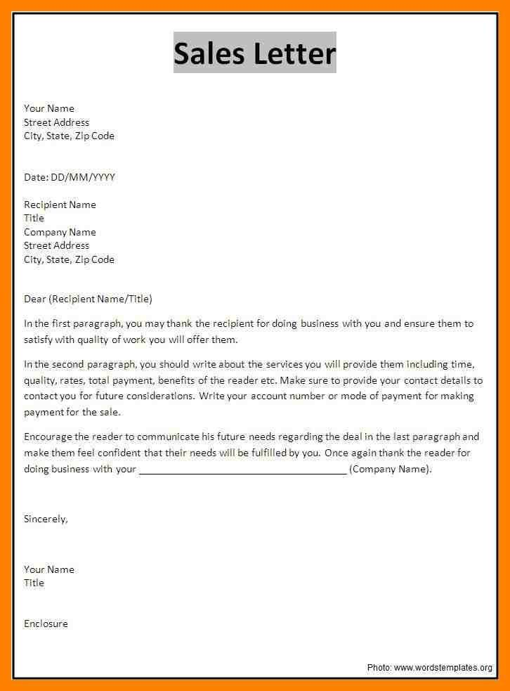 6+ example of sales letters | emt resume