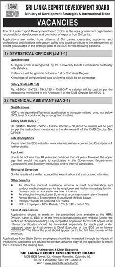 Sri Lankan Government Job Vacancies at Sri Lanka Export ...