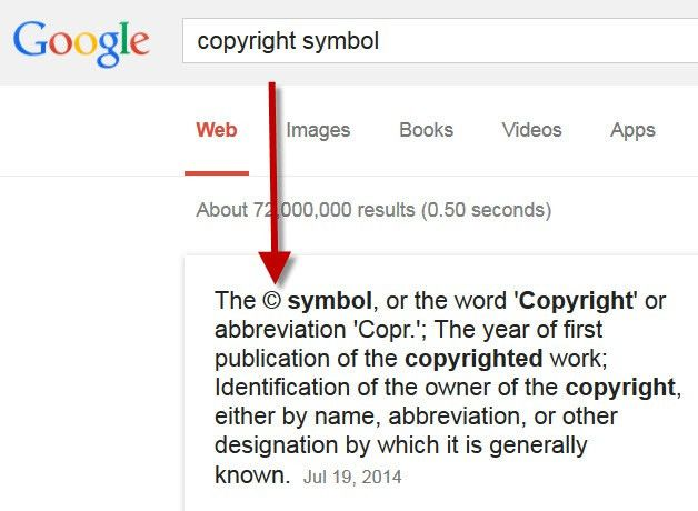 How to Insert the Copyright Symbol on Your Website - Website ...