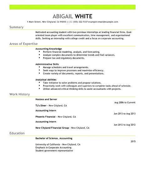 11 Finance Internship Resume Resume cv format for internship in ...