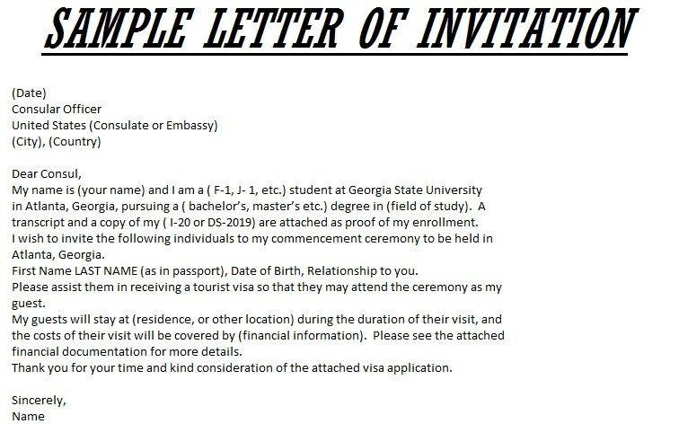 Invitation Letter For Us Visa. Invitation Letter Format For Uk ...