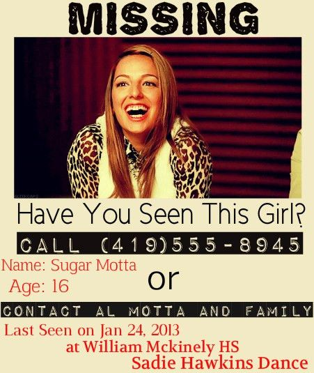 User blog:Wanky/Missing/Where is Sugar?/Sugar | Glee TV Show Wiki ...