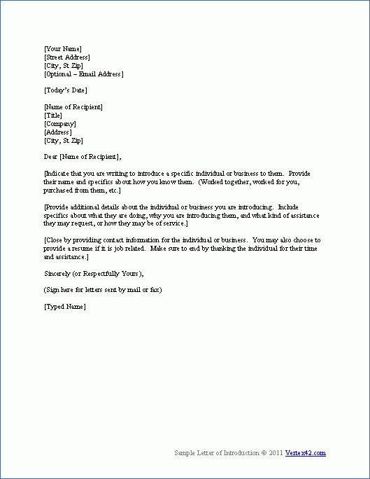 10+ what is a letter of introduction example - Budget Template Letter
