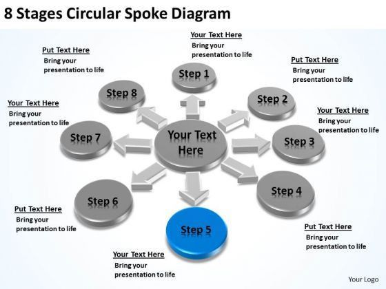 8 Stages Circular Spoke Diagram Business Contingency Plan ...
