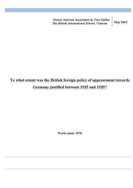 IB Internal Assessment Sample Notes   Oxbridge Notes the United ...