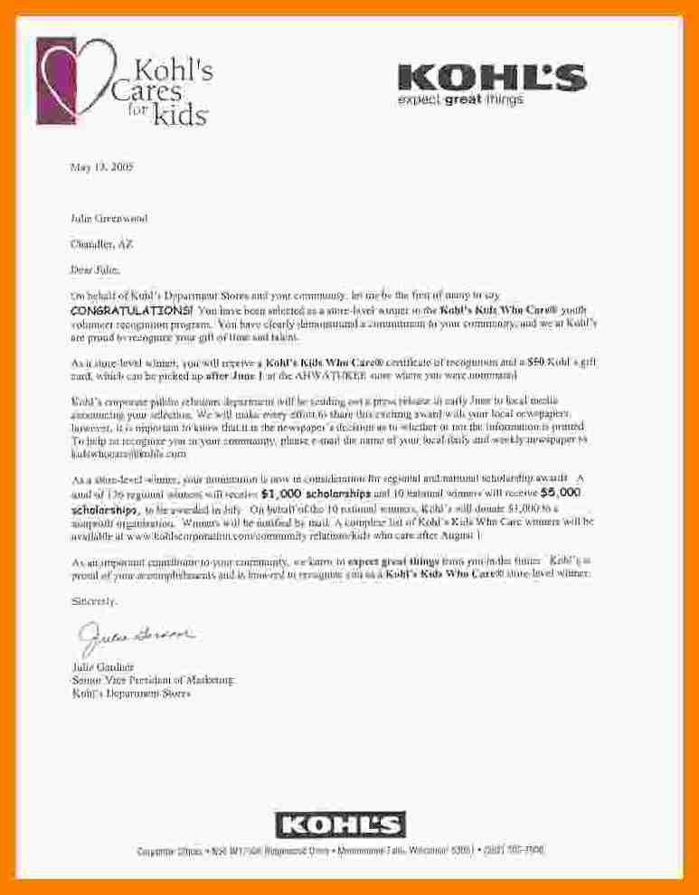5+ scholarship award letter | hostess resume