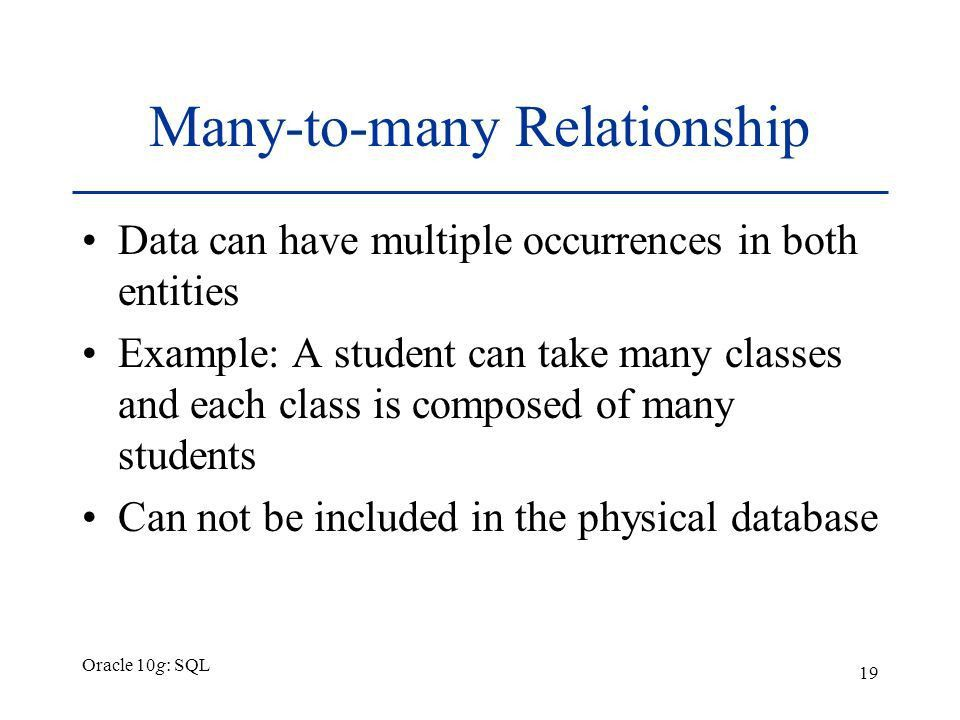 Chapter 1 Overview of Database Concepts Oracle 10g: SQL - ppt download