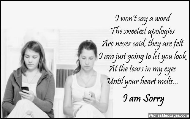 I Am Sorry Messages for Friends: Apology Quotes and Notes ...