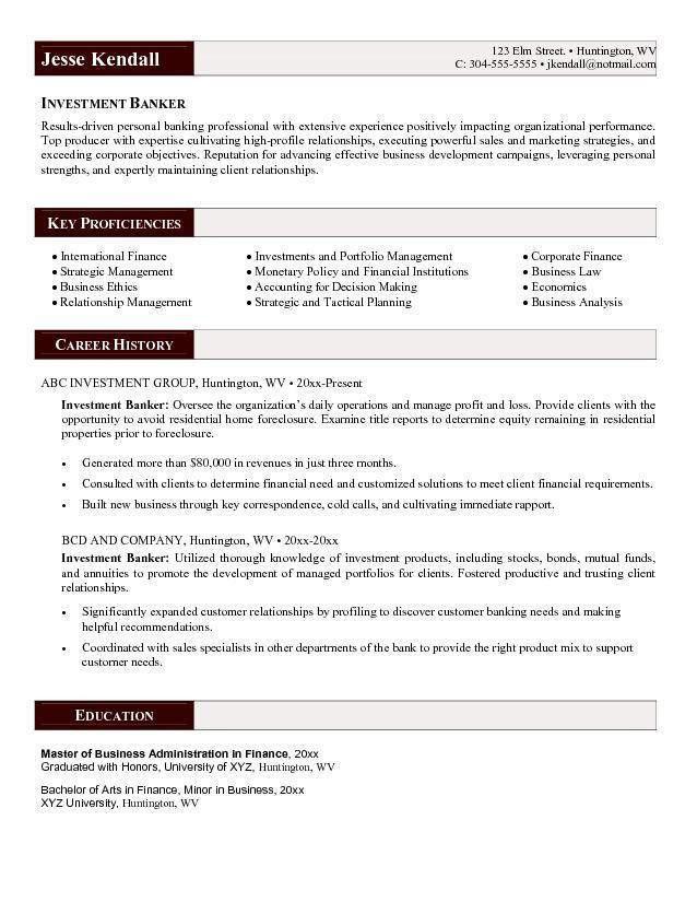 Personal Banker Resume 1 Resume Templates Personal Banker ...