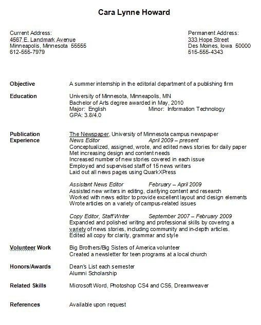 Sample Resume For College Student With No Experience Sample Resume ...