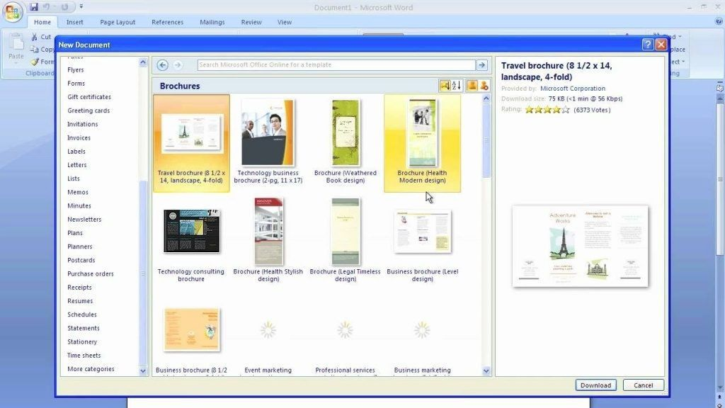 Free Brochure Templates For Word 2007 | Template Cards