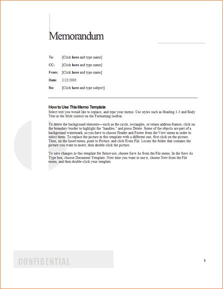 6+ example of business memoReport Template Document | report template