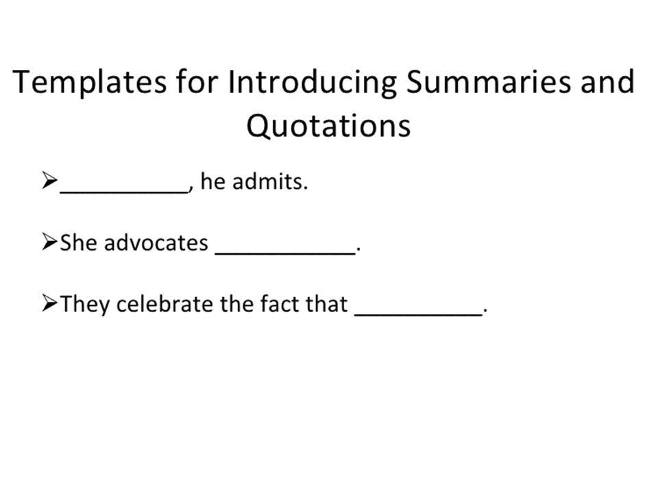 They Say/ I Say Summaries. - ppt video online download