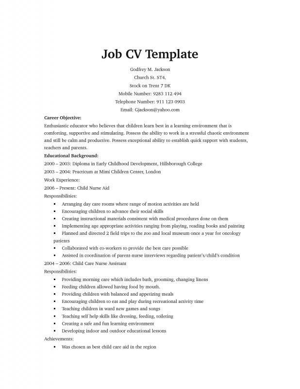 Yahoo Resume Template – Template Design