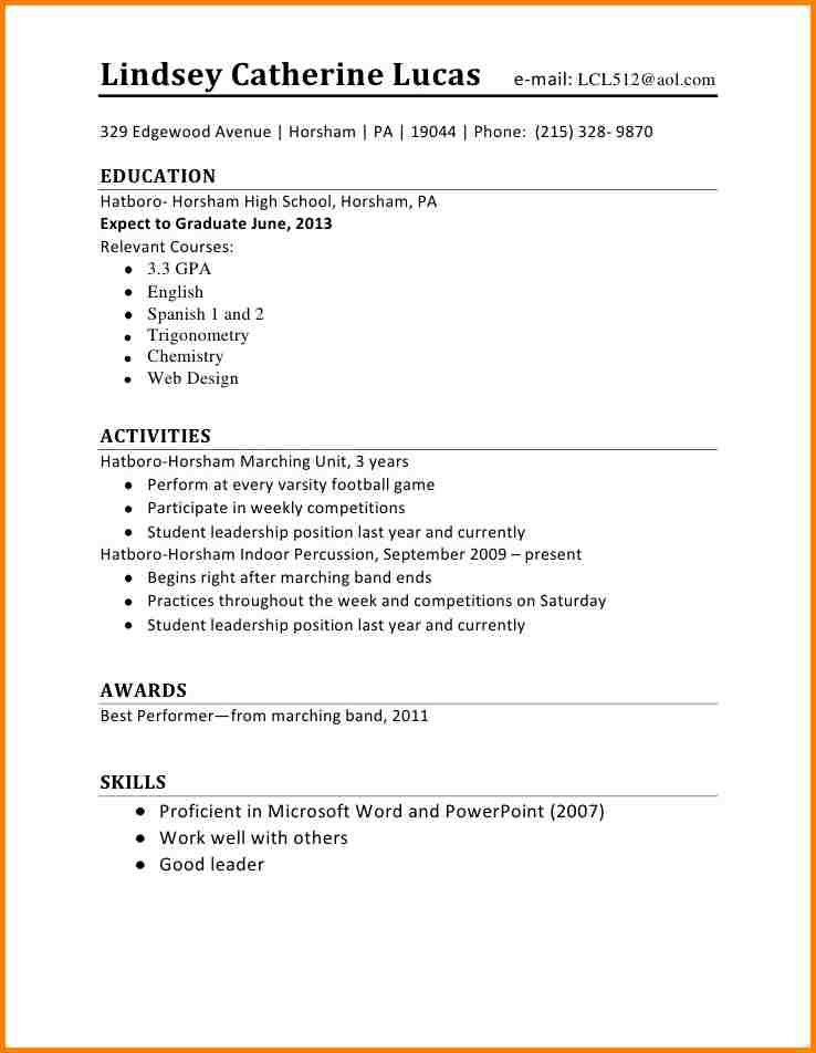 high school student resume example. modern summary resume example ...