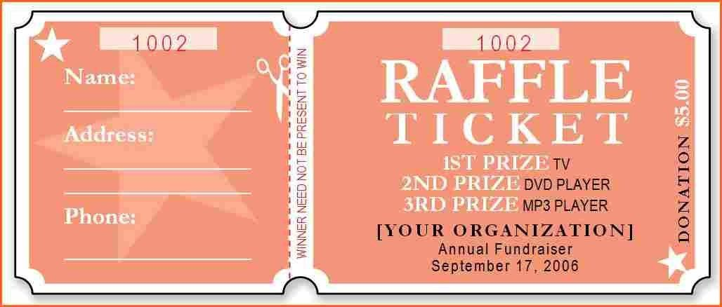 13+ raffle tickets template - Budget Template Letter