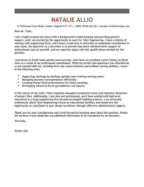 Sensational Ideas Secretary Cover Letter 9 School Sample - CV ...