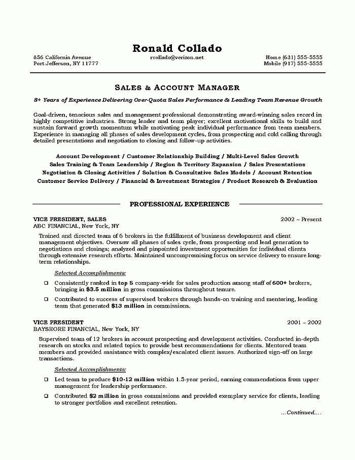 How to Write Sales Resume | RecentResumes.com