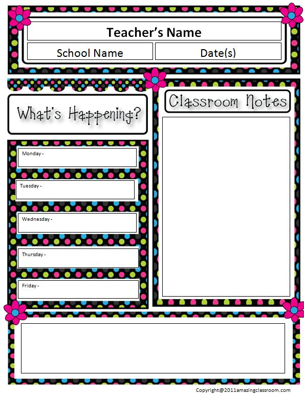 5 Best Images of Printable Newsletter Templates For Teachers ...
