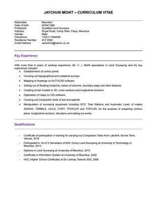 Quantity Surveyor Resume - Ecordura.com