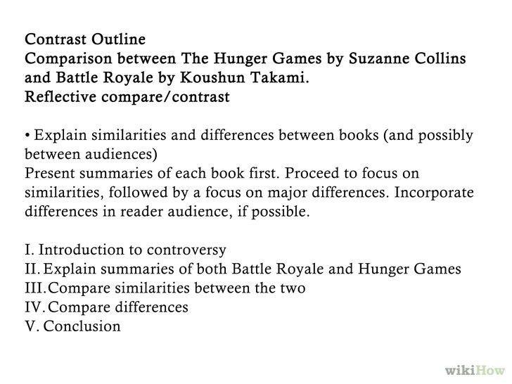 Comparison contrast essay samples
