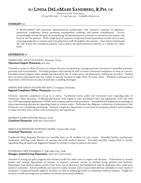 Remarkable Health Pharmacist Resume Template Sample for Job ...