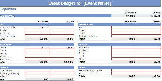 Microsoft Office's Free Event Planning Template