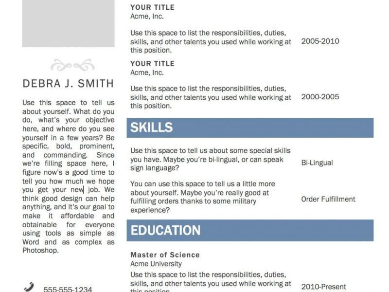 Beauteous Does Word Have A Resume Template Opulent - Resume CV ...