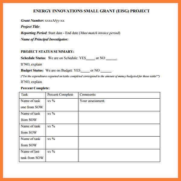 10+ progress report template for projects | Progress Report