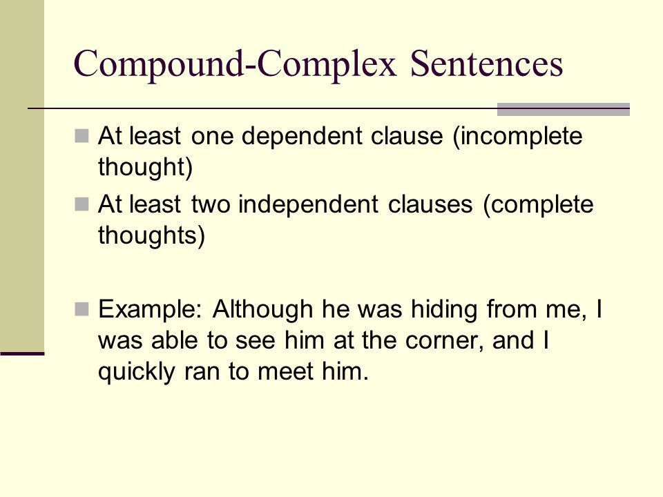 Complex Sentences. - ppt video online download