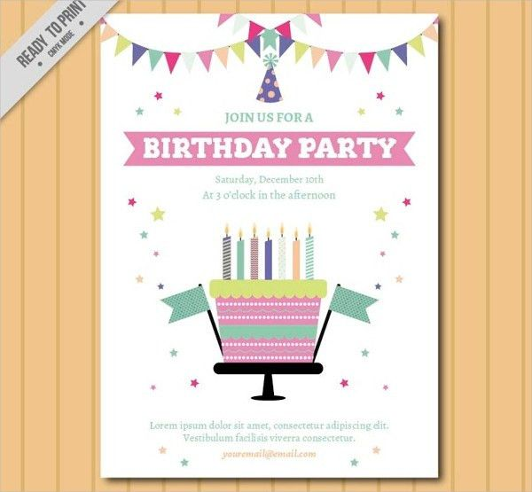 9+ Free Printable Birthday Invitations   Free & Premium Templates