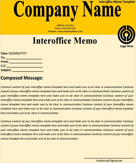 Interoffice Memo Templates   5+ Download Free Documents In PDF , Word