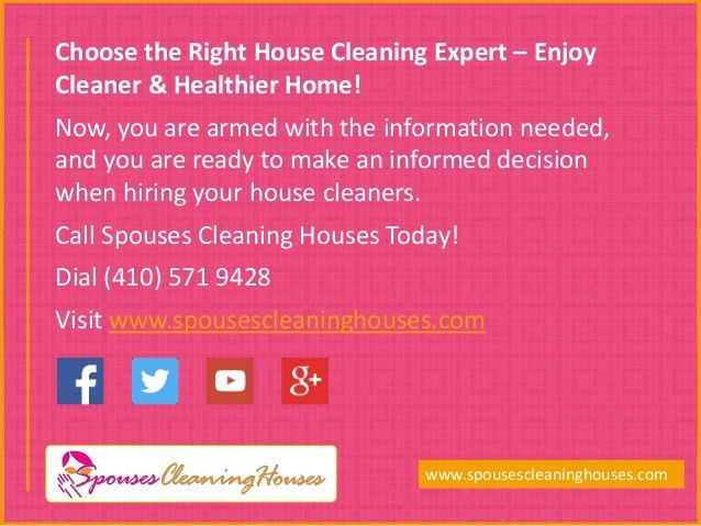 Guide to Choose the Right House Cleaning Service in MD