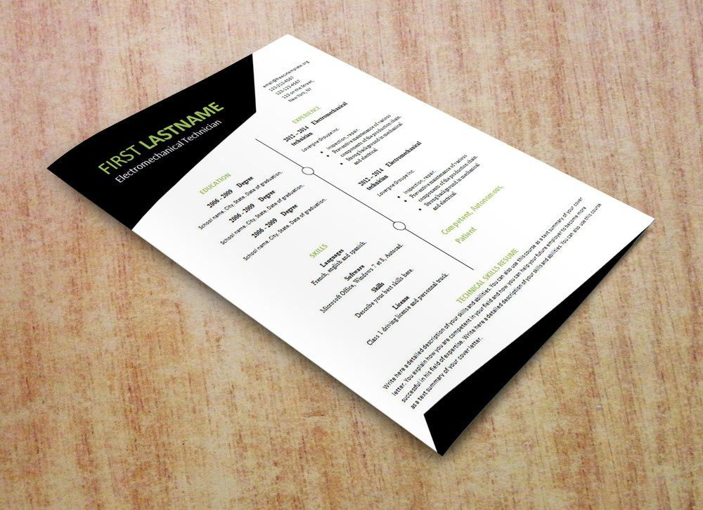 Free resume template that you can print (#532 to 537 ...