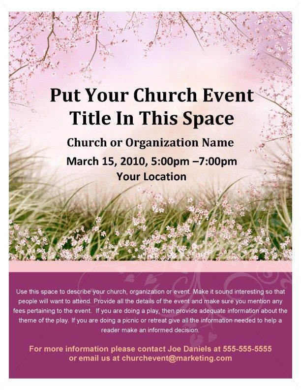 Womens Retreat Church Event Flyer Template | Flyer Templates