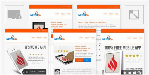 MoveOn - Mobile Friendly and Responsive HTML Email by Jakartanese ...