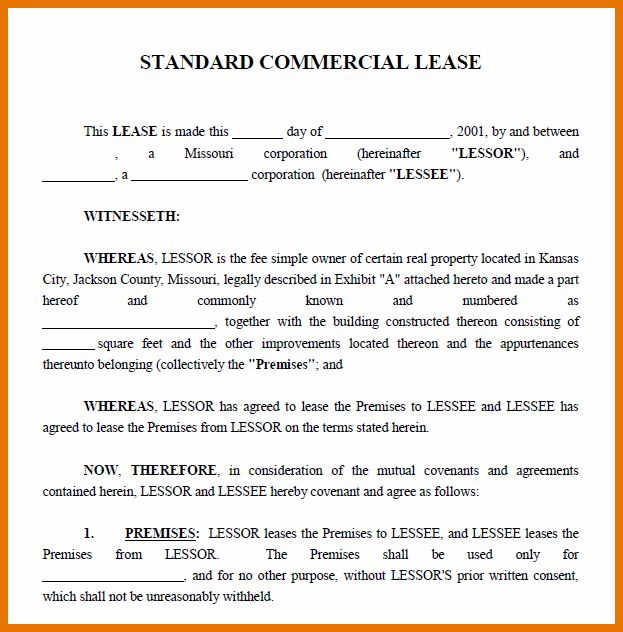 8+ free commercial lease agreement | Itinerary Template Sample