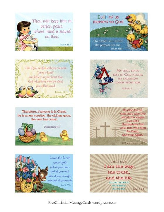 Free Printable Easter Message Cards – Variety Sheet | Free ...