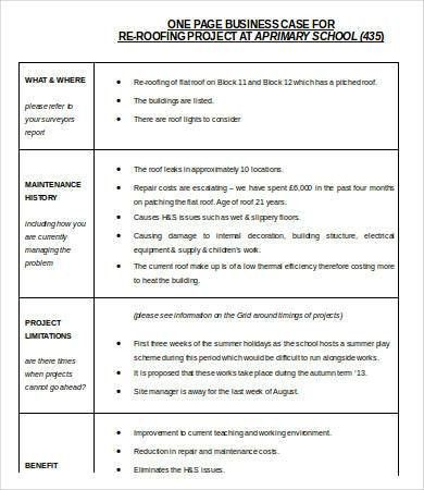 Business Case Template Word - 9+ Free Word, Documents Download ...