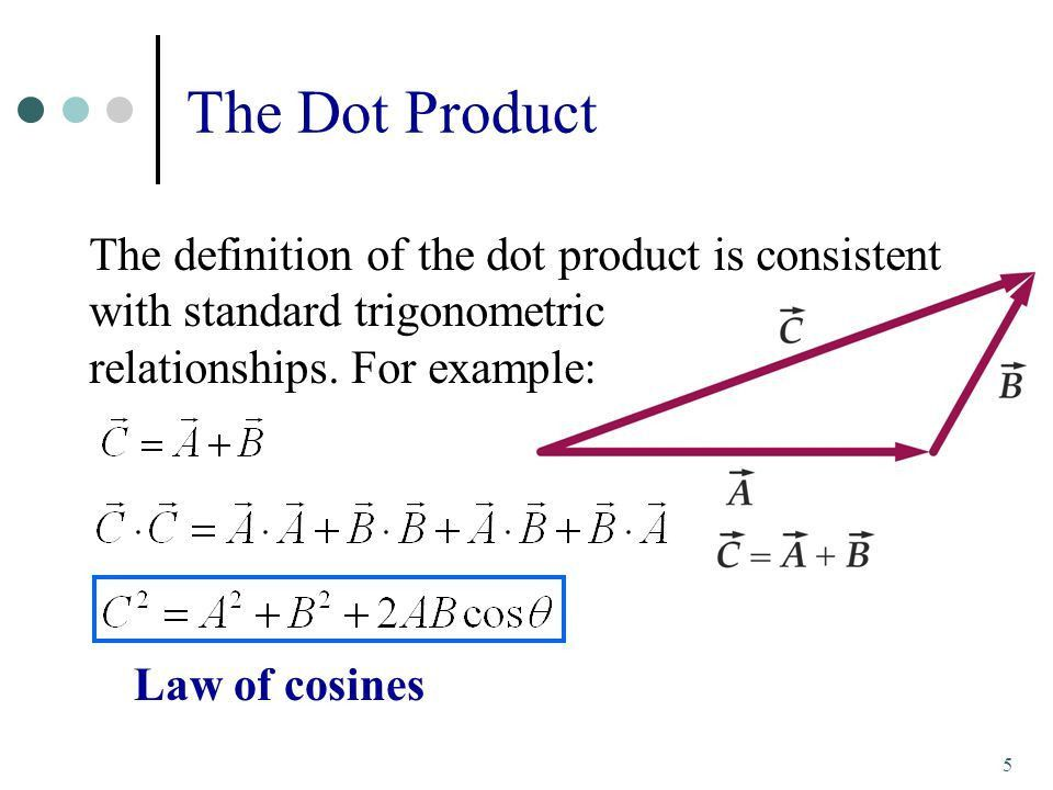 6. Work, Energy, and Power. The Dot Product 3 where  is the ...