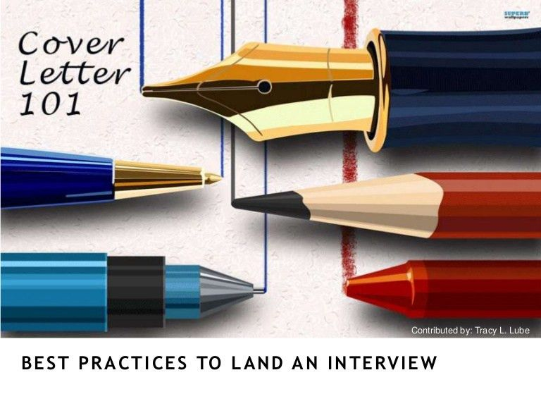 Cover letter 101 - Landing The Interview