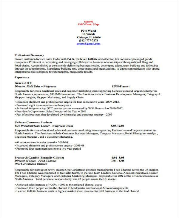 10+ Account Manager Resume - Free Sample, Example Format Download ...