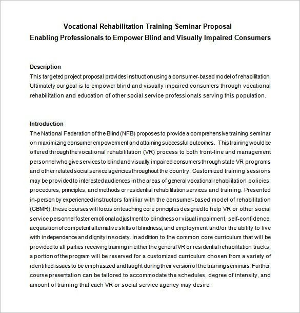 Training Proposal Template – 11+ Free Word, Excel, PDF, PPT Format ...