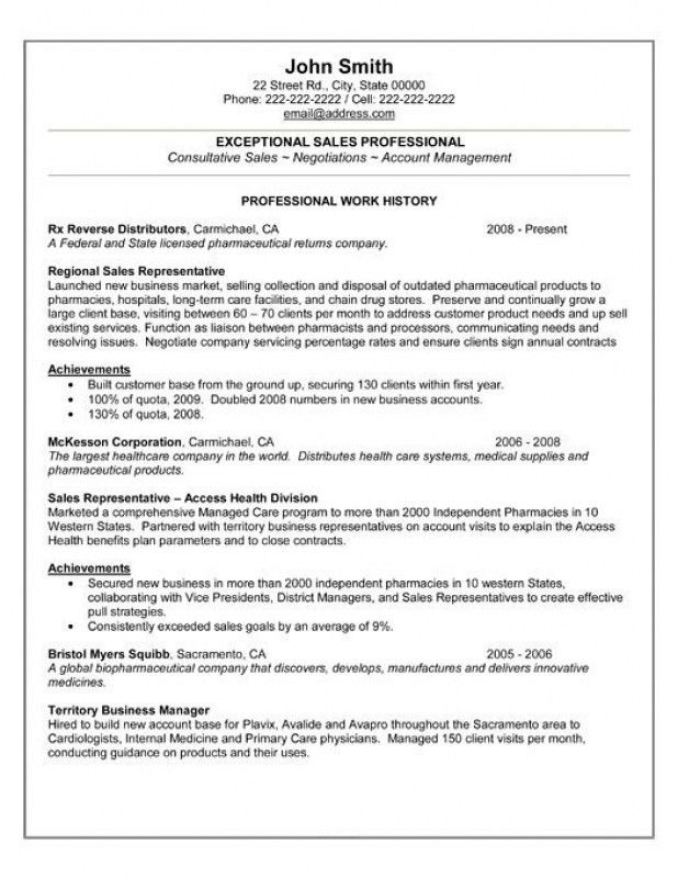 Professional Sales Resume – Resume Examples