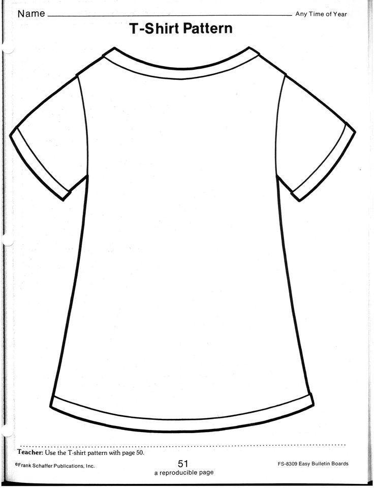 T Shirt Outline Template - Contegri.com