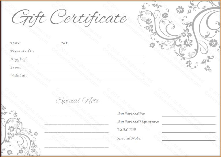5+ gift voucher template | Outline Templates